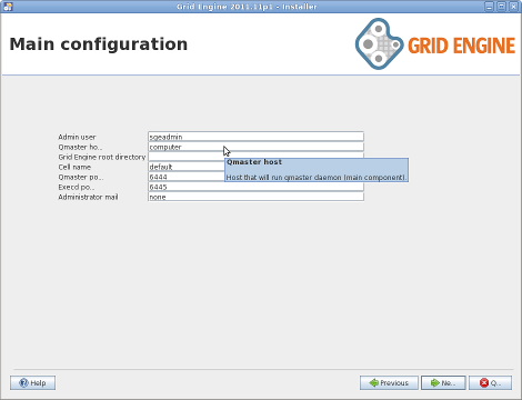 Grid Engine Java Installer